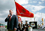 ARLINGTON HEIGHTS, IL - AUGUST 12: Jim Cornelison sings the national anthem on Arlington Million Day at Arlington Park on August 12, 2017 in Arlington Heights, Illinois. (Photo by Jon Durr/Eclipse Sportswire/Getty Images)