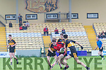 Minor Football League match Dr. Crokes vs Kenmare at the Dr. Crokes GAA Football pitch, Killarney last Friday.<br /> Pictured in action Jack Lynch and Robert O'Shea (Dr. Crokes) and Cian No.5 (Kenmare).