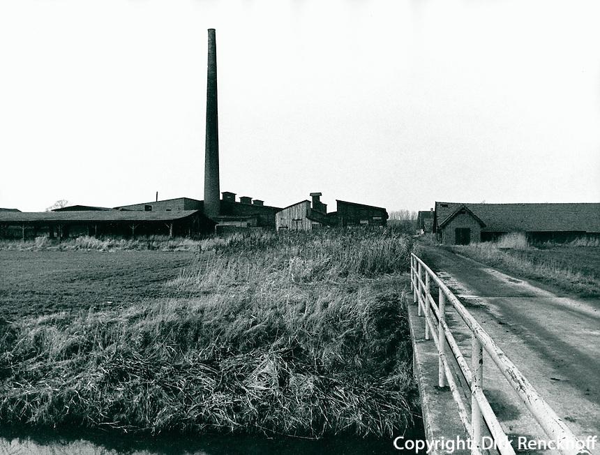 Ziegelei in Seestermühe, Schleswig-Holstein, Deutschland 1977