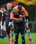 26.02.2020 SC Braga v Rangers: Allan McGregor and Florian Kamberi