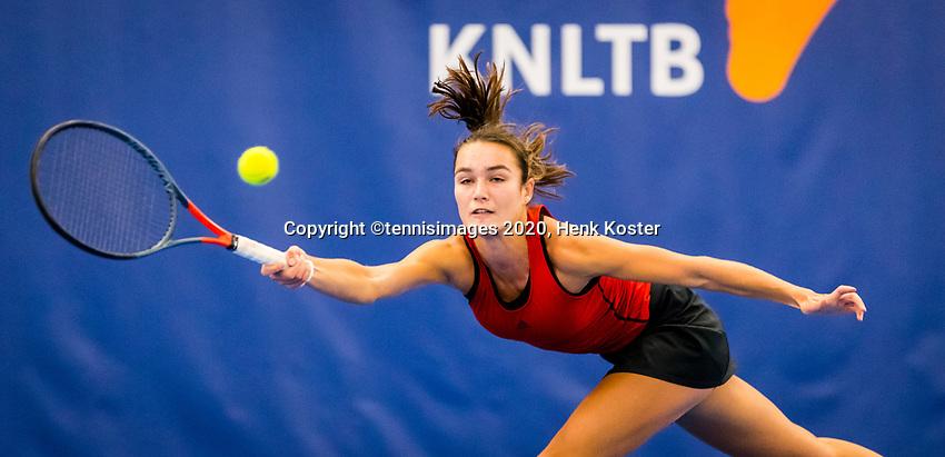 Amstelveen, Netherlands, 16  December, 2020, National Tennis Center, NTC, NK Indoor, National  Indoor Tennis Championships, : Jasmijn Gimbrère (NED) <br /> Photo: Henk Koster/tennisimages.com
