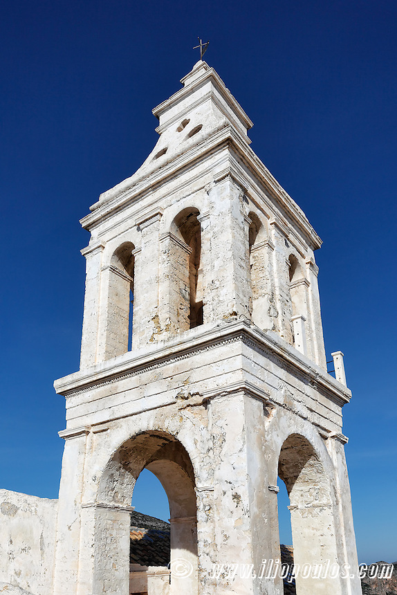 A traditional bell tower in Chora at Kythera island, Greece