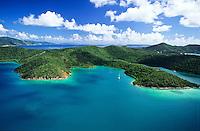 Aerial view of Hurricane Hole<br /> St. John, U.S. Virgin Islands