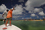 FLY FISHING ON THE BOAT IN LOS ROQUES