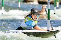 5th September 2021; Parc Olimpic del Segre, La Seu D'Urgell ICF Slalom World Cup, Women's Canoe Final; 3rd place for Nuria Vilarrubla (ESP)