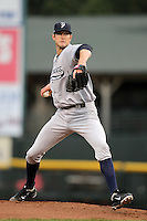Scranton Wilkes-Barre Yankees starting pitcher Andrew Brackman #40 makes his AAA debut delivering a pitch during a game against the Rochester Red Wings at Frontier Field on April 12, 2011 in Rochester, New York.  Scranton defeated Rochester 5-3.  Photo By Mike Janes/Four Seam Images