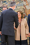Ana Botella during the auddience of King Felipe VI with representation of Gregorio Ordonez Fenollar Foundation at Zarzuela Palace in Madrid. 20 January 2020. (Alterphotos/Francis González)