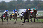 September 22, 2012. Handsome Mike (#3), ridden by Irad Ortiz Jr. and trained by Leandro Mora, leads the field in the stretch, on his way to winning the Gr. II Pennsylvania Derby at Parx Racing on Cotillion/PA Derby Day. (Joan Fairman Kanes/Eclipse Sportswire)