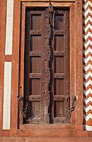 Agra, India.  Doorway and Locks in North Pavilion, Itimad-ud-Dawlah.