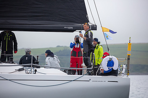 Bob Rendell's new Samatom, a Grand Soleil 44, was the winner of the first Sovereign's Cup coastal  race