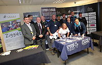 Pictured: Footballers pose for pictures Thursday 06 April 2017<br /> Re: Swansea City AFC Community Trust Celebration Event at the Liberty Stadium, Swansea, Wales, UK.