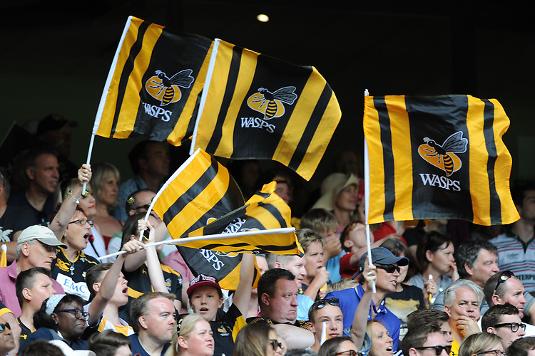 Wasps fans during the Premiership Rugby Final at Twickenham Stadium on Saturday 27th May 2017 (Photo by Rob Munro)
