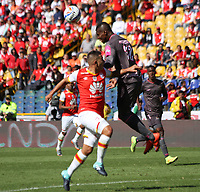 BOGOTA - COLOMBIA, 13-AGOSTO-2017:Acción de juego entre los equipos Independiente Santa Fe y Tigres FC durante partido por la fecha 7 de la Liga Águila II 2017 jugado en el estadio El Campín  de la ciudad de Bogotá . / Action Game between Independiente Santa Fe and Tigres FC during match for the date 7 of the Aguila League II 2017 played at El Campín stadium in Bogota city. Photo: Vizzorimage / Felipe Caicedo / Staff