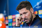 Atletico de Madrid's coach Diego Pablo Cholo Simeone during the press conference before the match of UEFA Champions League between Atletico de Madrid and FC Rostov, at Vicente Calderon Stadium,  Madrid, Spain. October 31, 2016. (ALTERPHOTOS/Rodrigo Jimenez)