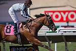 AUG 24,2014:Into Oblivion,ridden by Mike Smith,wins the maiden race,6R at Del Mar in Del Mar,CA. Kazushi Ishida/ESW/CSM