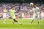 Real Madrid's Sergio Ramos and Manchester City's Jesus Navas during Champions League 2015/2016 Semi-Finals 2nd leg match at Santiago Bernabeu in Madrid. May 04, 2016. (ALTERPHOTOS/BorjaB.Hojas)