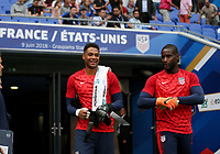 Lyon, France - Saturday June 09, 2018: Zack Steffen, Bill Hamid during an international friendly match between the men's national teams of the United States (USA) and France (FRA) at Groupama Stadium.