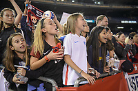 San Diego, Ca - Sunday, January 21, 2018: USA Fans during a USWNT 5-1 victory over Denmark at SDCCU Stadium.