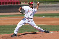 Wisconsin Timber Rattlers pitcher Luis Ortega (37) delivers a pitch during a game against the Cedar Rapids Kernels on April 23rd, 2015 at Fox Cities Stadium in Appleton, Wisconsin.  Cedar Rapids defeated Wisconsin 3-0.  (Brad Krause/Four Seam Images)