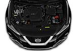 Car Stock 2020 Nissan Maxima SV 4 Door Sedan Engine  high angle detail view