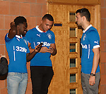 Gael Bigirimana, Remie Streete and Haris Vuckic text their pals to tell them they have signed for the mighty Glasgow Rangers