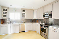 White cupboards in the kitchen