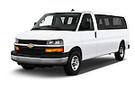 2016 Chevrolet Express 3500-LS 4 Door Passenger Van Angular Front stock photos of front three quarter view