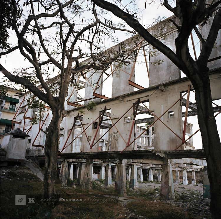 The Club Union is slated to become a five star hotel. Now a homeless man and woman purported to be the security and care takers of the property are living there. The Club is a former hangout of Manuel Noriega when he ruled Panama. It is at the point of Casco Viejo