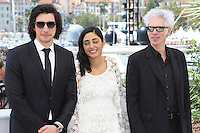 Cannes France May 16 2016 Adam Driver Golshifteh Farahani Jim Jarmusch attends Paterson Photocall Palais des Festival During the 69th Annual Cannes Film Festival