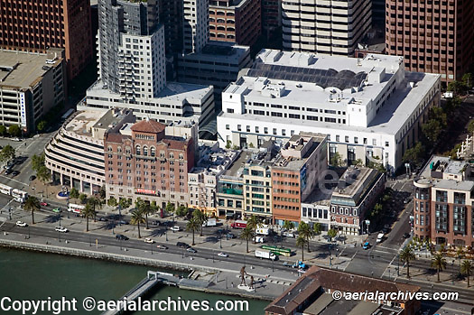 aerial photograph One Rincon Plaza Embarcadero waterfront San Francisco California