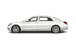 Car Driver side profile view of a 2017 Mercedes Benz S-Class Maybach 4 Door Sedan Side View