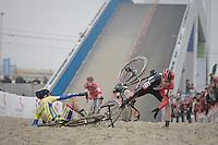 crash <br /> <br /> Elite Men's Race<br /> Belgian National CX Championships 2017