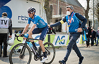 Enric Mas (ESP/Movistar) post-finish<br /> <br /> 85th La Flèche Wallonne 2021 (1.UWT)<br /> 1 day race from Charleroi to the Mur de Huy (BEL): 194km<br /> <br /> ©kramon