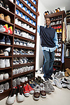 Miami Heat All-Star Guard Dwayne Wade photographed with his shoe collection in his closet at his Miami, Florida home for People Magazine on June 4, 2006. (Run Date 6/11/06 story number 20186.)