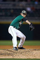 Charlotte 49ers relief pitcher Holden Capps (6) in action against the North Carolina State Wolfpack at BB&T Ballpark on March 29, 2016 in Charlotte, North Carolina. The Wolfpack defeated the 49ers 7-1.  (Brian Westerholt/Four Seam Images)