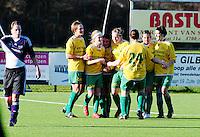 Dames Zulte-Waregem - RSC Anderlecht Dames : vreugde bij Zulte-Waregem nadat men de winnende 2-1 scoorde.foto VDB / BART VANDENBROUCKE
