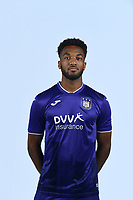 30th July 2020, Turbize, Belgium;   Hannes Delcroix defender of Anderlecht  pictured during the team photo shoot of RSC Anderlecht prior the Jupiler Pro league football season 2020 - 2021 at Tubize training Grounds.