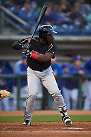 Lake Elsinore Storm right fielder Jorge On a (13) at bat during a California League game against the Rancho Cucamonga Quakes at LoanMart Field on May 19, 2018 in Rancho Cucamonga, California. Lake Elsinore defeated Rancho Cucamonga 10-7. (Zachary Lucy/Four Seam Images)