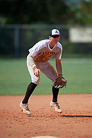 Carson Crawford (7) during the WWBA World Championship at Lee County Player Development Complex on October 9, 2020 in Fort Myers, Florida.  Carson Crawford, a resident of Rohnert Park, California who attends Cardinal Newman High School, is committed to California.  (Mike Janes/Four Seam Images)