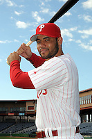 Feb 20, 2009; Clearwater, FL, USA; The Philadelphia Phillies infielder Pedro Feliz (7) during photoday at Bright House Field. Mandatory Credit: Tomasso De Rosa/ Four Seam Images