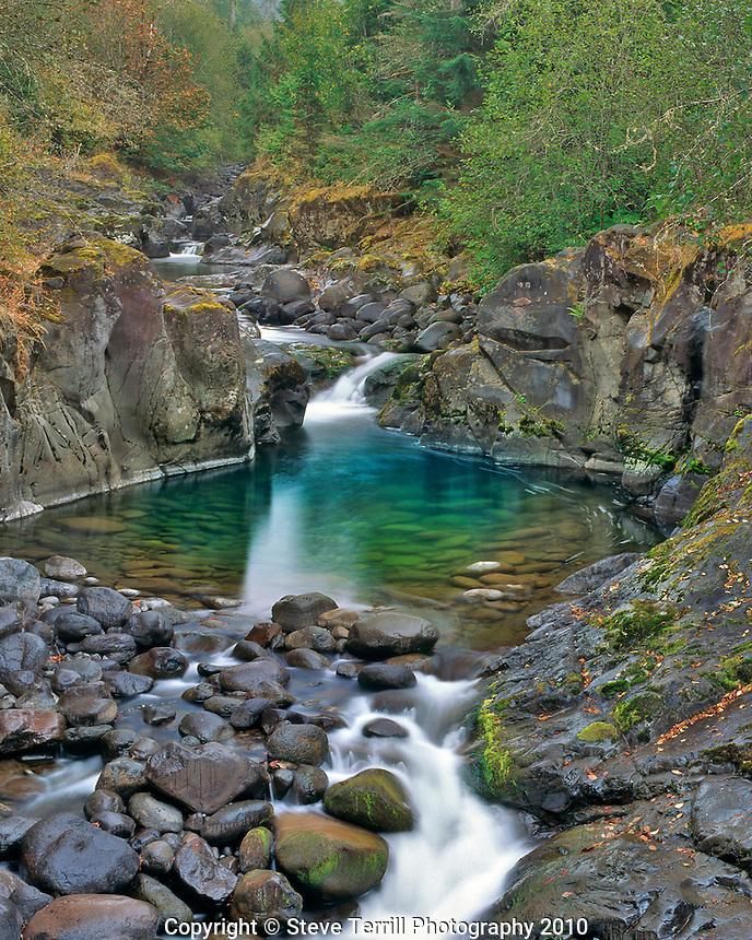 Crabtree Creek in Crabtree Valley near Green Mountain in Linn County, Oregon