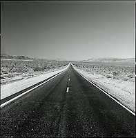 Empty road through desert<br />