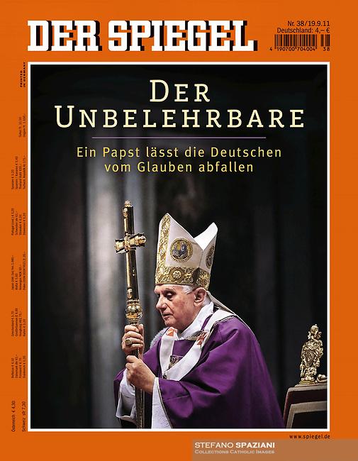 Pope Benedict XVI Der Spigel September 22, 2011
