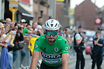 Peter Sagan (SVK) Bora-Hansgrohe wearing the Green Jersey at sign on before Stage 3 of the 2019 Tour de France running 215km from Binche, Belgium to Epernay, France. 8th July 2019.<br /> Picture: Colin Flockton | Cyclefile<br /> All photos usage must carry mandatory copyright credit (© Cyclefile | Colin Flockton)