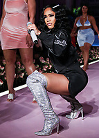 MANHATTAN, NEW YORK CITY, NEW YORK, USA - SEPTEMBER 08: Rapper Saweetie performs onstage at the PrettyLittleThing x Saweetie runway show during New York Fashion Week: The Shows held at The Plaza Hotel on September 8, 2019 in Manhattan, New York City, New York, United States.