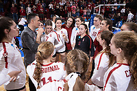 STANFORD, CA - DECEMBER 13: STANFORD, CA - December 13, 2019: Stanford beats Utah 3-2 during the Regionals of the 2019 DI Women's Volleyball Championship at Maples Pavilion. during a game between University of Utah and Stanford Volleyball W at Maples Pavilion on December 13, 2019 in Stanford, California.