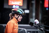 World Champion Anna van der Breggen (NED/Boels-Dolmans) with a pre race interview<br /> <br /> <br /> 4th Liège-Bastogne-Liège-Femmes 2020 (1.WWT)<br /> 1 Day Race: Bastogne – Liège 135km<br /> <br /> ©kramon
