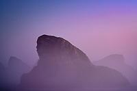 foggy coastline at Cape Sabastian, Oregon