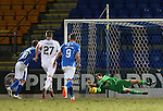 St Johnstone v Inverness Caley Thistle…09.03.16  SPFL McDiarmid Park, Perth<br />Owain Fon-Willimas saves David Wotherspoon's penalty<br />Picture by Graeme Hart.<br />Copyright Perthshire Picture Agency<br />Tel: 01738 623350  Mobile: 07990 594431