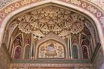 India, Rajasthan, Jaipur: Amber Fort, detail of gate painting | Indien, Rajasthan, Jaipur: Amber Fort, Detail